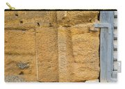 Blue Window On A Grungy Yellow Wall Carry-all Pouch