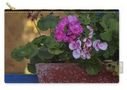 Blue Window With Geraniums Carry-all Pouch