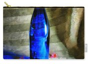 Blue Wine Bottle Carry-all Pouch