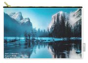 Blue Winter Fantasy. L A With Decorative Ornate Printed Frame. Carry-all Pouch