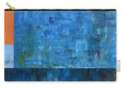Blue With Orange Carry-all Pouch by Michelle Calkins