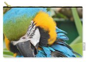 Blue/yellow Parrot Carry-all Pouch