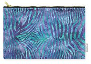Blue Zebra Print Carry-all Pouch