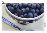 Blueberries In Polish Pottery Bowl Carry-all Pouch