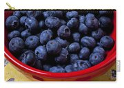 Blueberries In Red Bowl Carry-all Pouch