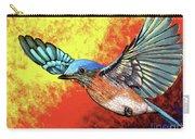 Bluebird In Flight Carry-all Pouch