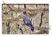 Bluebird On Canary Island Palm I Carry-all Pouch