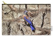 Bluebird On Canary Island Palm II Carry-all Pouch