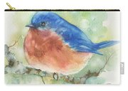 Bluebird On Twig Carry-all Pouch