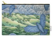 Bluebirds Of Happiness Carry-all Pouch