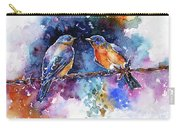 Bluebirds Carry-all Pouch