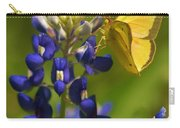 Bluebonnet And Butterfly Carry-all Pouch