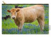 Bluebonnet Cow Carry-all Pouch
