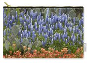 Bluebonnet Paintbrush And Prickly Pear Carry-all Pouch