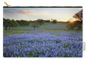 Bluebonnet Sunrise And A Windmill In Texas 1 Carry-all Pouch