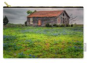 Bluebonnets And Abandoned Farm House Carry-all Pouch