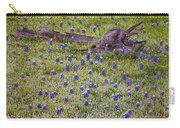 Bluebonnets And Fallen Tree - Texas Hill Country Carry-all Pouch