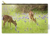 Bluebonnets And Whitetails Carry-all Pouch