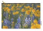 Bluebonnets And Wildflowers Carry-all Pouch