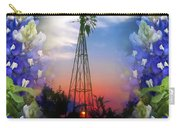 Bluebonnets And Windmill Carry-all Pouch