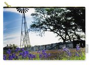 Bluebonnets With Windmill Carry-all Pouch