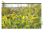Bluejay And Sunflowers Carry-all Pouch