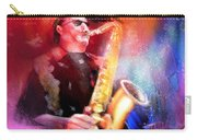 Blues Saxophonist Carry-all Pouch