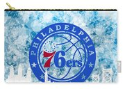 bluish backgroud for Philadelphia basket Carry-all Pouch
