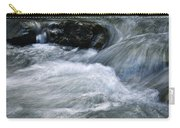 Blurred Detail Of A Mountain Stream Carry-all Pouch