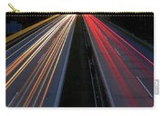Blurred Lights Lines On Highway Carry-all Pouch