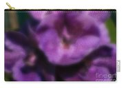Blurred Seasonal Orchid Flowers With Dark Green Background Carry-all Pouch