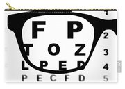 Blurry Eye Test Chart Carry-all Pouch
