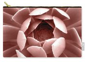 Blush Pink Succulent Plant, Cactus Close Up Carry-all Pouch