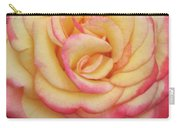 Blushing Yellow Rose Carry-all Pouch