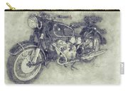 Bmw R60/2 - 1956 - Bmw Motorcycles 1 - Vintage Motorcycle Poster - Automotive Art Carry-all Pouch
