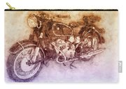 Bmw R60/2 - 1956 - Bmw Motorcycles 2 - Vintage Motorcycle Poster - Automotive Art Carry-all Pouch