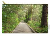 Boardwalk Along Hiking Trail At Fort Clatsop Carry-all Pouch