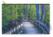 Boardwalk Going Into The Woods Carry-all Pouch