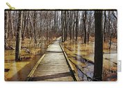 Boardwalk Over Golden Brown Iced Pond Carry-all Pouch