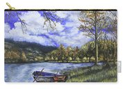 Boat By The Lake Carry-all Pouch
