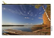 Boat Dock And Autumn Trees Along A Saskatchewan Lake Carry-all Pouch