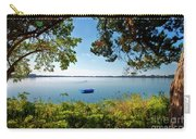 Boat Framed By Trees And Foliage Carry-all Pouch