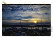 Boat Harbor At Sunset Carry-all Pouch