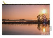 Boat On Calm Lake Carry-all Pouch