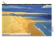 Boat On The Sand Beach Carry-all Pouch