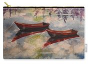 Boat Reflections Watercolor Painting Carry-all Pouch