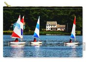 Boat - Striped Sails Carry-all Pouch