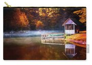 Boathouse In Autumn Oil Painting Carry-all Pouch