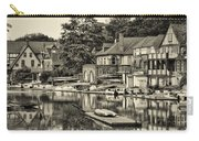Boathouse Row In Sepia Carry-all Pouch by Bill Cannon