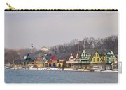 Boathouse Row On A Winter Morning Carry-all Pouch